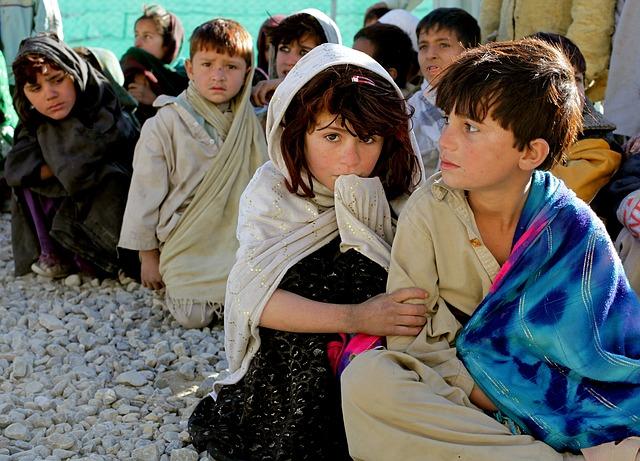 děti z Afghánistánu