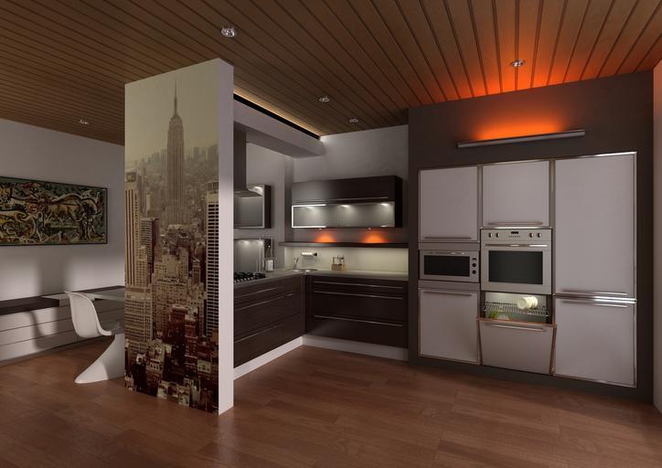 Interiér, obývačka a kuchyňa.jpg