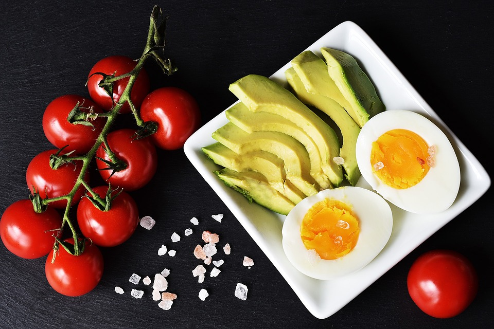 jedlo, vajcia, zelenina